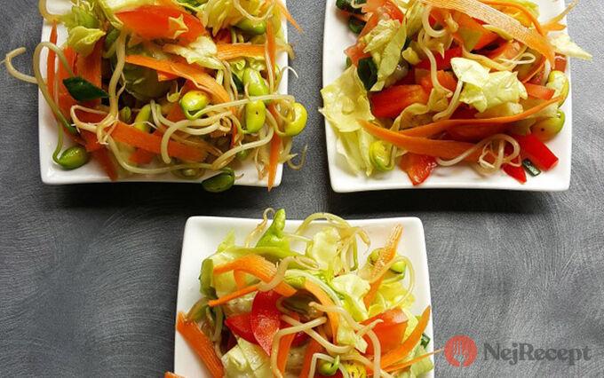 Recept Salát z naklíčené sóji