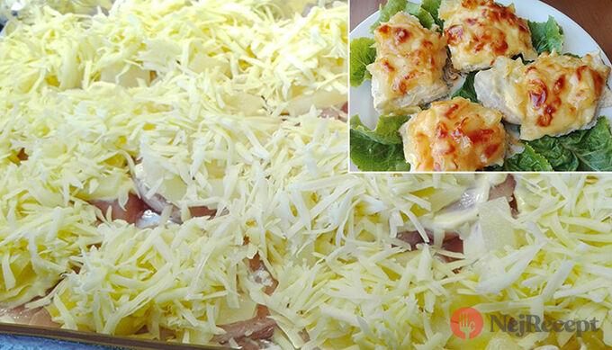 Recept Kuřecí prsa zapečená s ananasem a sýrem