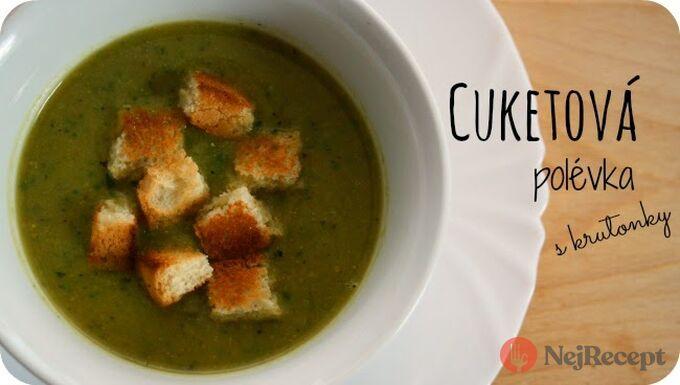 Recept Cuketová polévka (z grilované cukety) s krutonky