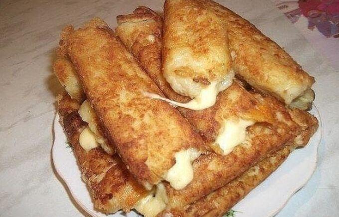 Recept Bramborové tyčinky plněné sýrem