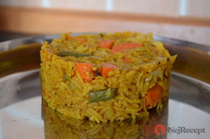 Recept Indická žlutá zeleninová rýže