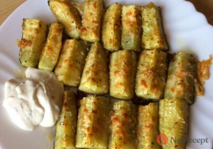 Recept Zapečené cuketky s česnekem