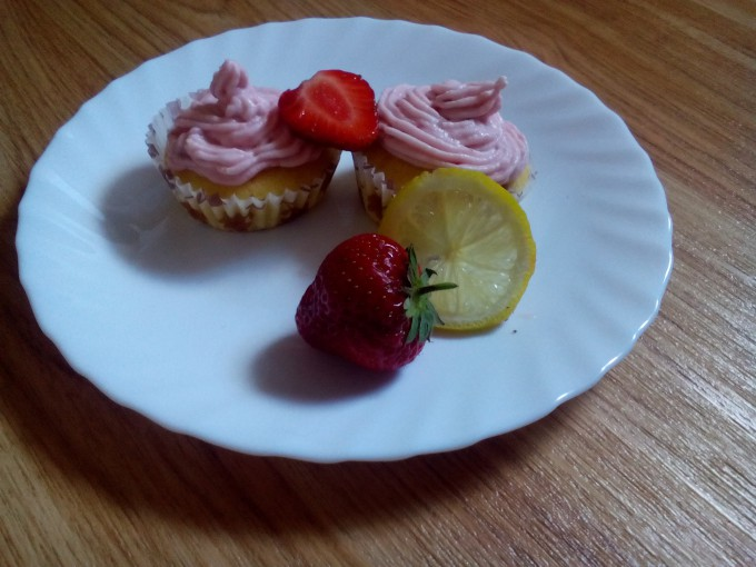 Recept Jahodové cupcakes