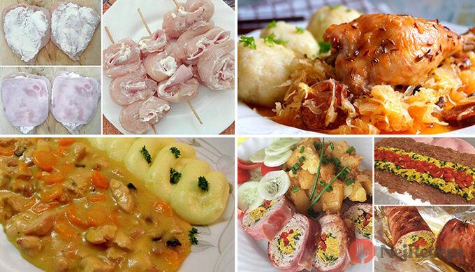 Sbírka 22 nejlepších receptů na chutný oběd z kuřecího masa