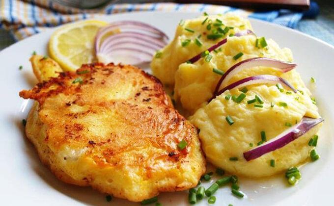 Recept Francouzské řízky s bramborovou kaší