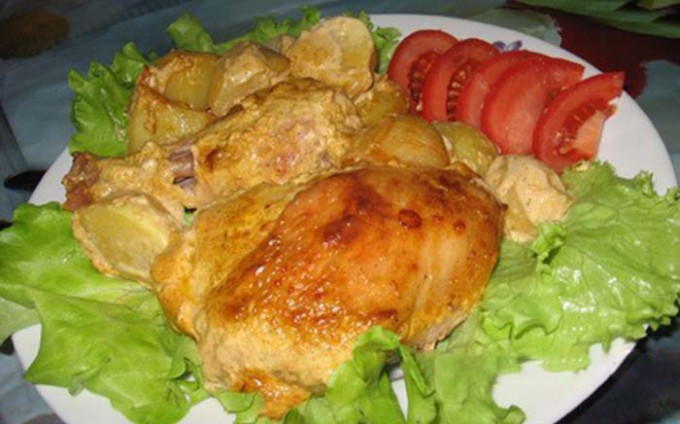 Recept Marinované kuřecí kousky zapečené v troubě