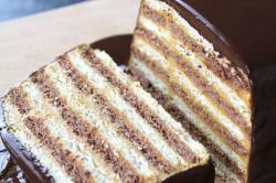 Příprava receptu Rychlý nepečený dort se salkovým krémem připraven za 15 minut, krok 5
