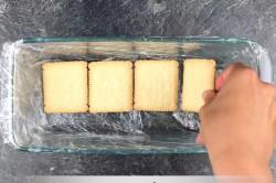 Příprava receptu Rychlý nepečený dort se salkovým krémem připraven za 15 minut, krok 2
