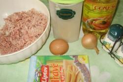 Příprava receptu Karbanátky se sýrem a kaší, krok 1