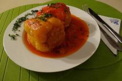 Příprava receptu Plněná paprika v rajčatové omáčce, krok 10