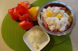 Příprava receptu Plněná paprika v rajčatové omáčce, krok 2