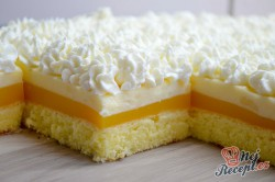 Příprava receptu Svěží pomerančový zákusek se šlehačkou, krok 11