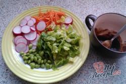 Příprava receptu Japonský zeleninový salát s asijskou zálivkou, krok 1