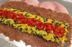 Příprava receptu Kuřecí roláda s míchanými vajíčky zabalená v šunce, krok 1