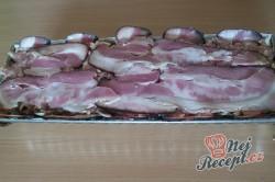 Příprava receptu Zapečené maso se sýrem v anglické slanině, krok 12