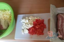 Příprava receptu Zapečené maso se sýrem v anglické slanině, krok 4
