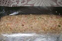 Příprava receptu Roláda z mletého masa s hřiby, krok 6