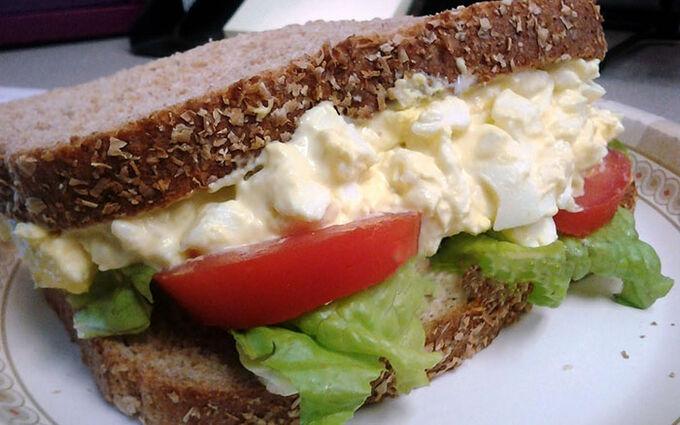 Recept Vajíčkový sendvič