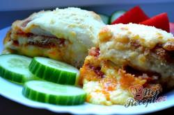 Příprava receptu Kuřecí kapsy se sýrem a salámem, krok 8
