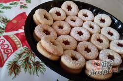 Příprava receptu Linecké vánoční cukroví - FOTOPOSTUP, krok 10
