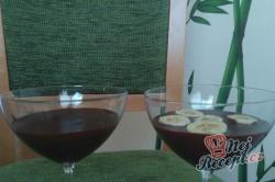 Příprava receptu Panna Cotta z hořké čokolády s banánem, krok 2
