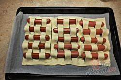 Příprava receptu Bleskové párečky v listovém těstě, krok 3