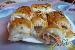 Příprava receptu Listové rolky se šunkou a sýrem - rychlovečka, krok 10