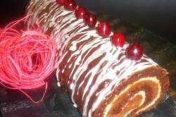 Příprava receptu Kakaová roláda s Amarettem a dvojitou čokoládou, krok 1