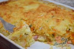 Příprava receptu Pečená rýže se šunkou a sýrem, krok 7