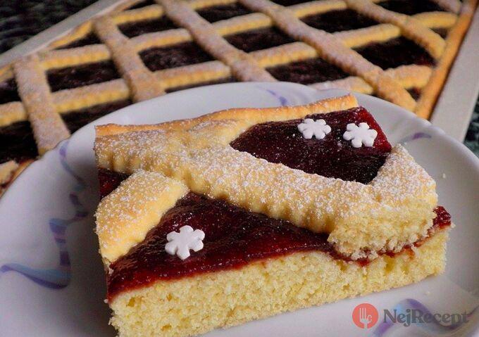 Recept Rychlý linecký koláček s marmeládou