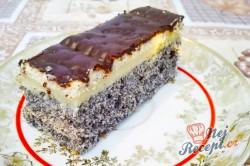 Příprava receptu Makové kostky s vanilkovým krémem, krok 1