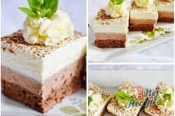 Příprava receptu Čokoládově tvarohové kostky, krok 15