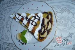Příprava receptu Palačinky s nutellou a banánem, krok 4