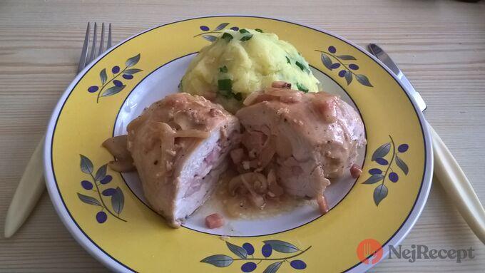 Recept Plněné kuřecí prso s bramborovou kaší