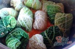 Příprava receptu Plněné kapustové listy masem a kroupami FOTOPOSTUP, krok 10