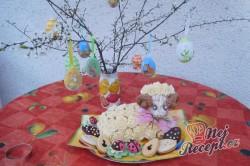 Příprava receptu Kokosový velikonoční beránek, krok 9