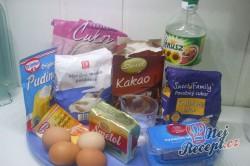 Příprava receptu Tříbarevný koláček s ovocem, krok 1