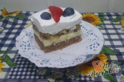 Příprava receptu Tříbarevný koláček s ovocem, krok 8