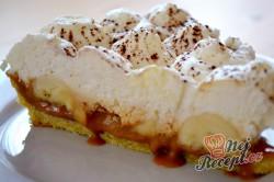 Příprava receptu Banánové řezy (dort) s kondenzovaným mlékem a šlehačkou, krok 12