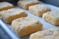 Příprava receptu Výborný sýr v trojobale pečený v troubě - chutná jako smažený!, krok 4
