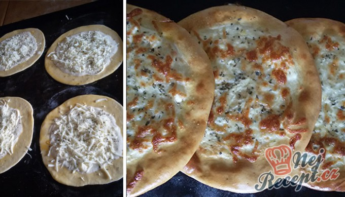 Recept Pita chlebíček se sýrem a jogurtem