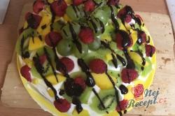 Příprava receptu Ovocný dort s tvarohem, krok 4