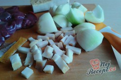 Příprava receptu Opilé krůtí játra s bramborovými pusinkami, krok 3