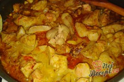 Příprava receptu Opilé krůtí játra s bramborovými pusinkami, krok 8