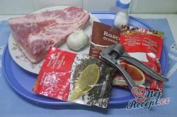 Příprava receptu Pečený bůček v česnekové marinádě, krok 1