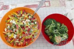Příprava receptu Zapečená brokolice se zeleninou a vajíčkem, krok 2