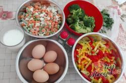 Příprava receptu Zapečená brokolice se zeleninou a vajíčkem, krok 1