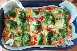Příprava receptu Zapečená brokolice se zeleninou a vajíčkem, krok 4