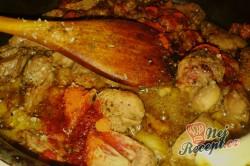 Příprava receptu Krůtí srdíčka s hlívou na smetaně s bramborovými knedlíčky, krok 5