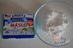 Příprava receptu Vanilková kolečka lepená marmeládou, krok 1